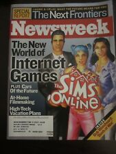 Newsweek Magazine November 2002 New World of Internet Games Sims Online