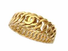chanel vintage CC logo large size bangle bracelet