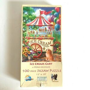 Sunsout Eco-friendly 100 piece puzzle Ice Cream Cart by Dona Gelsinger 13 x 19