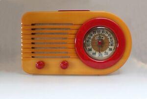 "FADA 1000 Vintage Catalin ""Bullet"" Radio; 1945; works."