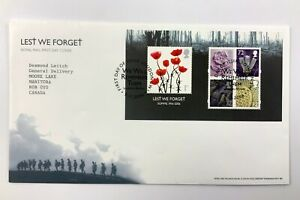 2006 United Kingdom FDC Lest We Forget 1916-2006 We Will Remember Them UK 643C