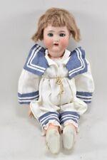 f68c29- Porzellankopf Puppe mit Schafaugen, Halbig