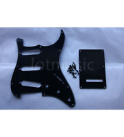 1 Set Black Guitar Pickguard Back Plate Tremolo Cover For Fender Strat Parts