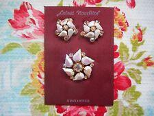 Pretty vintage 50's/60's diamante/rhinestone & glass stone brooch & earrings set
