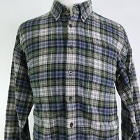 LL BEAN LONG SLEEVE PLAID COTTON FLANNEL BUTTON DOWN SHIRT MENS SZ XL REG