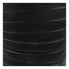 5m x 10mm Shaded Velvet Lame Glitter Ribbon TTLGR01 Black//Silver