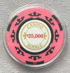 JAMES BOND 007 - CASINO ROYAL, $25,000 POKER CHIP CARD GUARD/PROTECTOR