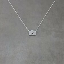 Camera SILVER Plated Necklace Gift Box Photography Picture Hipster Trendy Pic