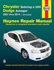 Reparaturhandbuch Chrysler Sebring, 200 & Dodge Avenger 2007 -2014 NEU!