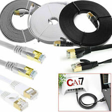 Network RJ45 Cat7 Ethernet Cable Gold Ultra-thin FLAT 10Gbps SSTP LAN Lead Lot