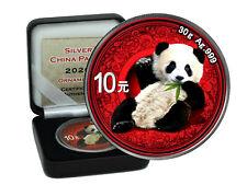 10 Yuan Silber China Panda 2020  color Ornament Edition in Box CoA