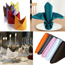 10Pcs Square Napkins Table Cloth Tableware Wedding Party Dinner Hotel Restaurant