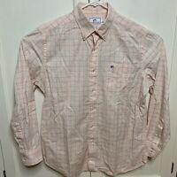 Southern Tide Mens Large Classic Fit Long Sleeve Button Down Shirt Plaid Salmon