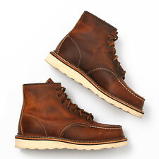 """Red Wing 1907 6"""" Moc Toe Boots Copper - Size 8.5 2E"""