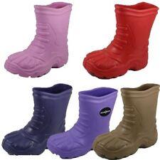 Girls Womens Wellies Wellington Flat Snow Rain Ankle Waterproof Boots 1-2