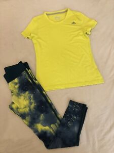 Ladies Adidas Tshirt And Leggings Size M