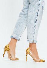High Heels / Escarpins Missguided Yellow Snake EU41 UK8