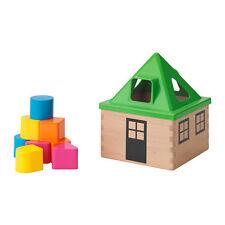 IKEA MULA shape sorter block house baby toddler present educational gift