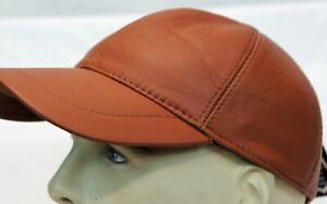 New 100% Genuine Real Lambskin Leather Baseball Cap Hat Sport Visor 31 COLORS