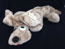 VINTAGE LANAKILA CRAFTS Koi Dog Tan Plush HONOLULU HAWAIN STUFFED ANIMAL Toy