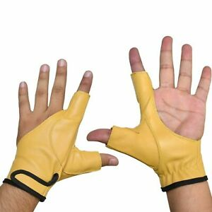 Archery Bow Glove Left Hand  Gloves100% Thick Leather In All Sizes 4 colors