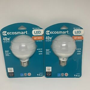 3 Pack Ecosmart 40w (4.5w) G25 Frosted Soft White LED 1001542870 350 Lum