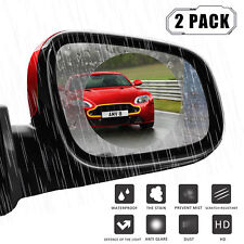 Pair 10cm Car Anti Fog Rainproof Rearview side Mirror Protective Film cover