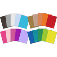 A4 Glitter Card 2 x Craft Fixed Sheets Single Sided 220gsm Low Shed 20 Colours