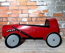 Red Wooden Vintage Retro Soap Box Gravity Racer