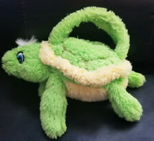 Super Cute Green Turtle Purse/Handbag Plush Eyes Zipper Back plush - 11""