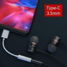 USB-C Type-C To 3.5mm Jack AUX Headphone Audio Splitter Charging Adapter H K2JE
