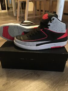 Jordan 2 Infrared Black Cement Size 11