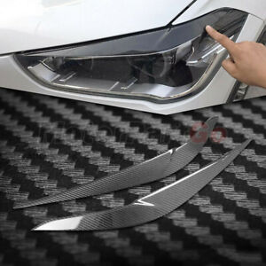 Real Carbon fiber Head light Eyelid Eyebrow Cover Trim For BMW X1 F48 F49 16-18