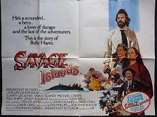 SAVAGE ISLANDS ORIGINAL 1983 QUAD POSTER TOMMY LEE JONES JENNY SEAGROVE