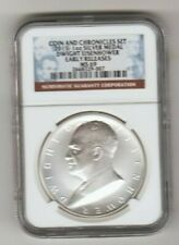 2015 Dwight D Eisenhower NGC MS 69 .999 SILVER Chronicles Medal Coin FREEDOM EaR