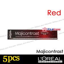 L'Oreal Majicontrast RED Permanent Colour Hair Dye 50ml 5pcs