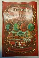 Vintage Old Milwaukee Beer Poster Lantern Light Sign Bar Tavern New Old Stock