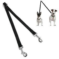 Correa para Perro Doble de Nylon Pasear a Dos Perros Mascotas Nueva 2cm Ancho
