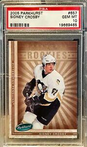 2005 Parkhurst Sidney Crosby #657 RC PSA 10