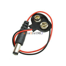 10PCS T type 9V DC Battery Power Cable Barrel Jack Connector for Arduino New