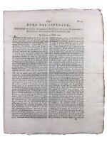 Giornale Rivoluzione Francese 1792 Maria Antoinette Rivarol Avignon Stael