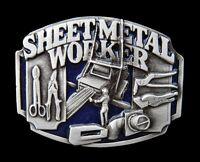 SHEET METAL SHOP WORKERS OPERATORS TOOLS MACHINES BELT BUCKLE BOUCLE CEINTURE