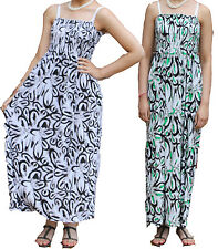 Ladies Summer Maxi Dress Size 8-14 Womens New Party Long Skirt Holiday Splash