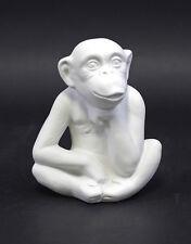 Figurine Porcellana Scimmia bianca bisquit Wagner & Apel H7cm 9942528