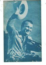 Roy Rogers Cowboy Arcade Card 1950's hat off