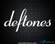 "Deftones Rock Band Car Decal / Laptop Sticker - WHITE 8"""