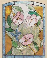 Gráfico de punto de cruz-vidrieras Flores -- no. 69 TSG37