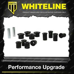 Whiteline Rear Leaf Spring Bush Kit For LDV T60 SK 4WD 4CYL 7/2017-ON