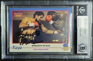 1991 Kayo #82 Roberto Duran Signed Card Autograph Auto BGS BAS Boxing HOF