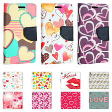 Phone Case for Apple iPhone Flip Cover Protective Case Cover Pouch Wallet Heart